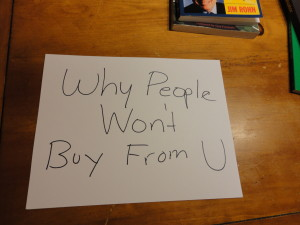 why people don't buy from you